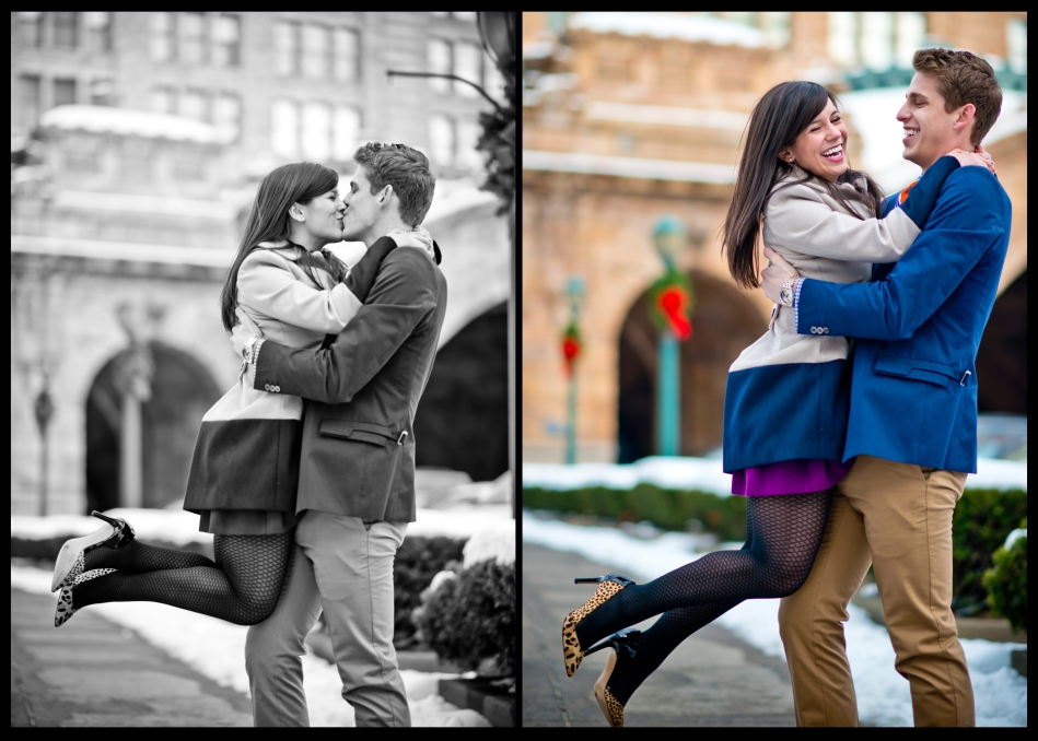 OWSP Pittsburgh Engagement Photos Cute Couple