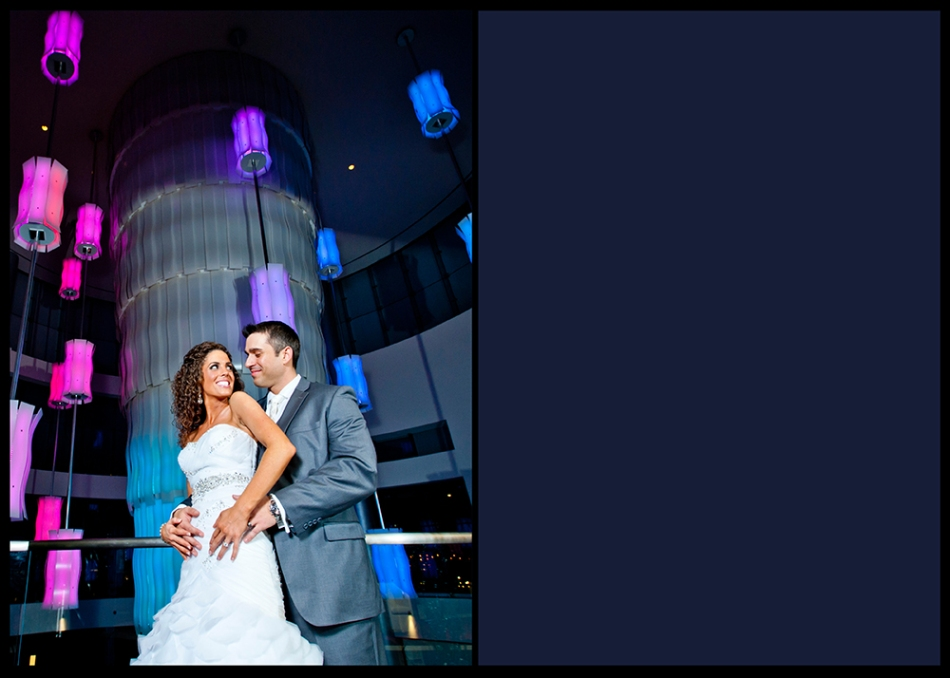 OWSP Pittsburgh Rivers Casino Wedding Lobby Blue