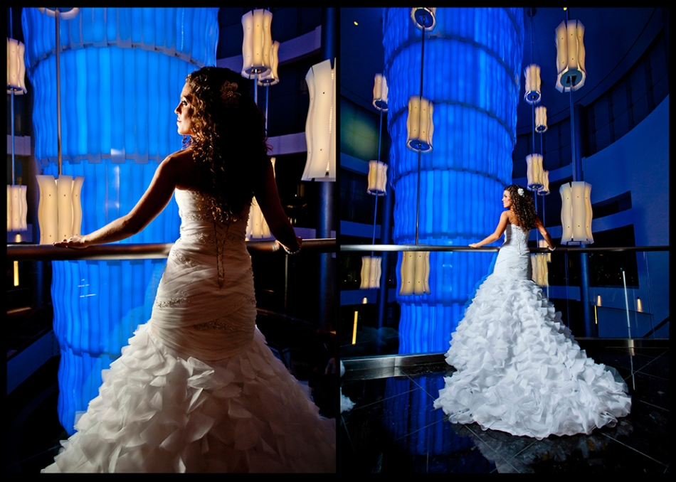 OWSP Pittsburgh Rivers Casino Wedding Lobby Bridal Portrait