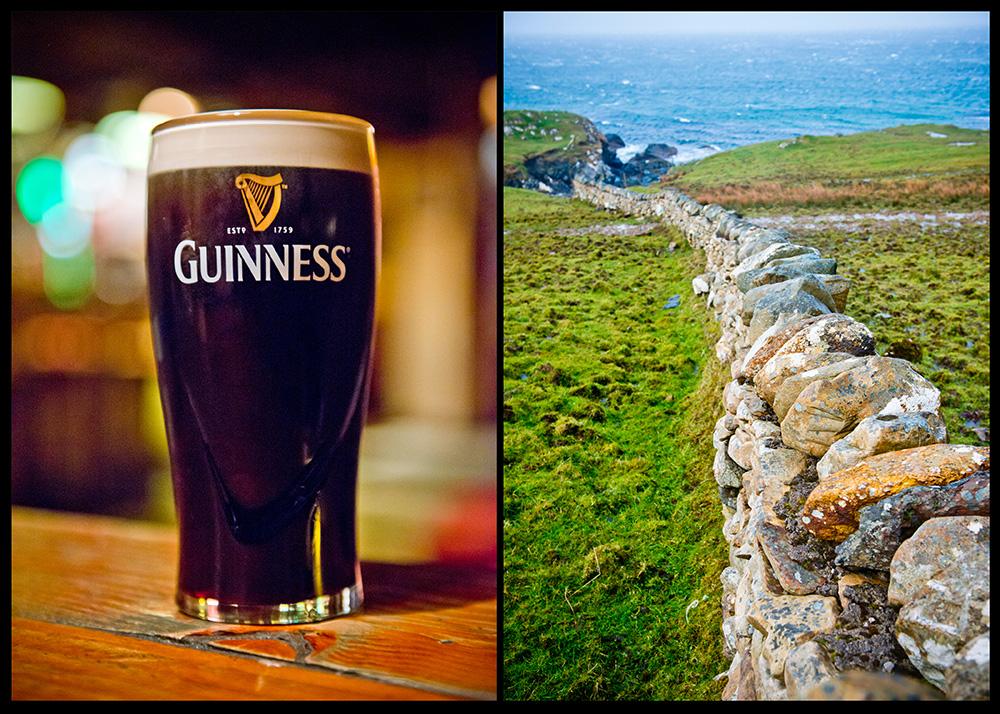 Guiness & Stone Wall Ireland