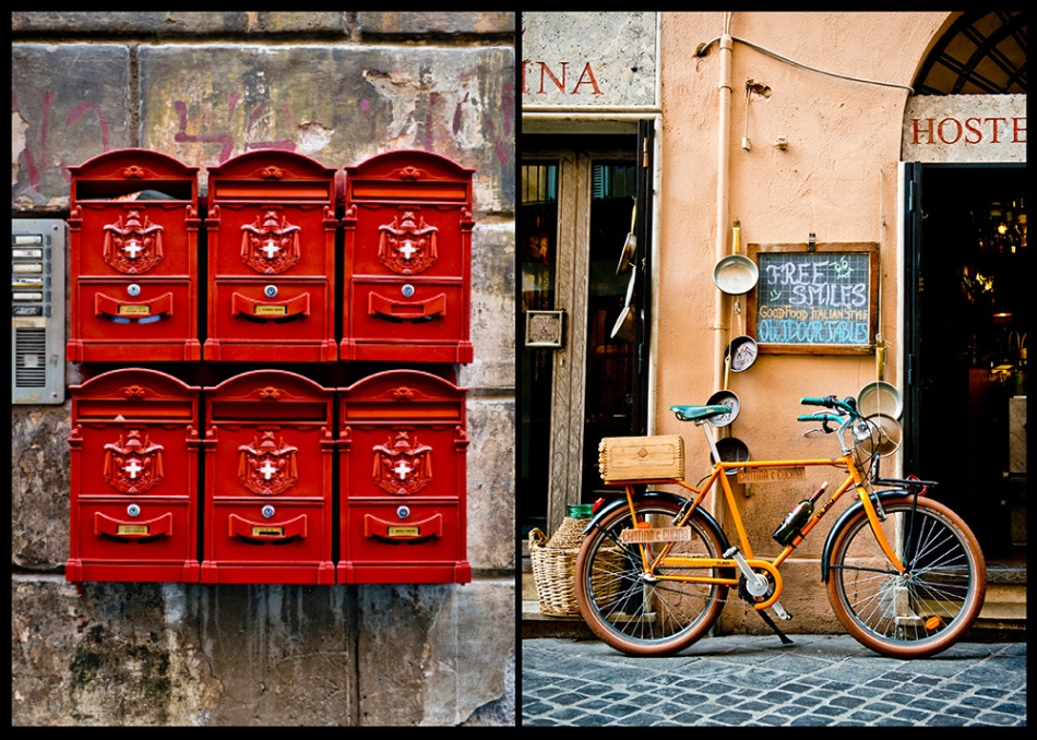 Mail Boxes Rome Italy Bicycle