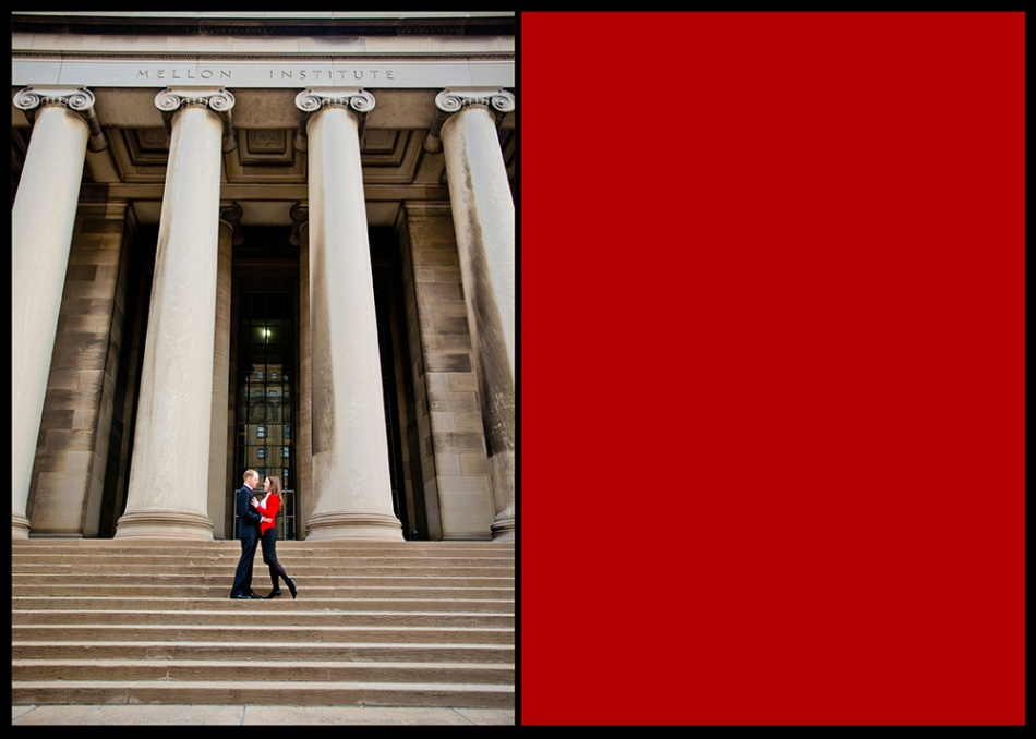 OWSP Engagment Photo Shoot Pittsburgh Columns