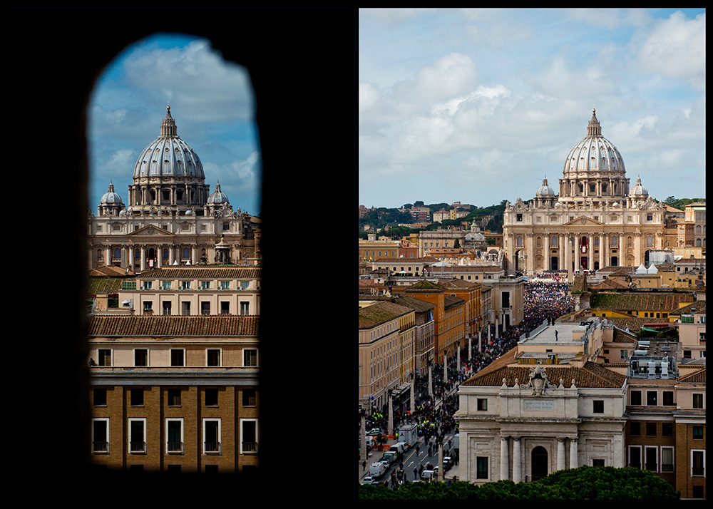View of St Peter San Pietro from Castel Sant'Angelo