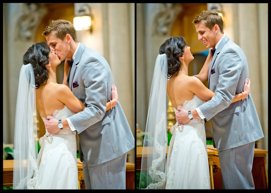 Wedding-First-Kiss-Bride-Groom-Ceremony